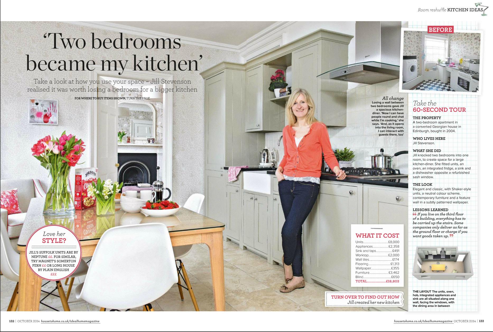 Interior designers edinburgh scotland robertson for Ideal home kitchen ideas
