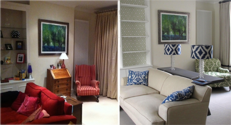 before and after living room interior design edinburgh