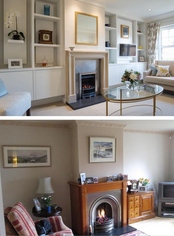 Before and after edinburgh interior design Robertson Lindsay