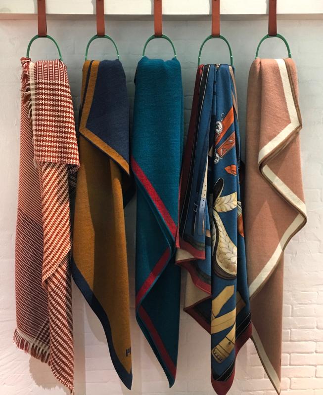 hermes blankets milan design week