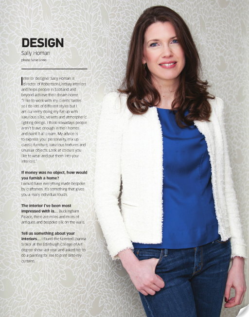 Sally-Homan-ion-interview Robertson Lindsay interior designer edinburgh