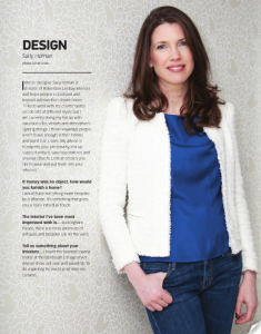 Sally Homan Edinburgh interior designers ion interview