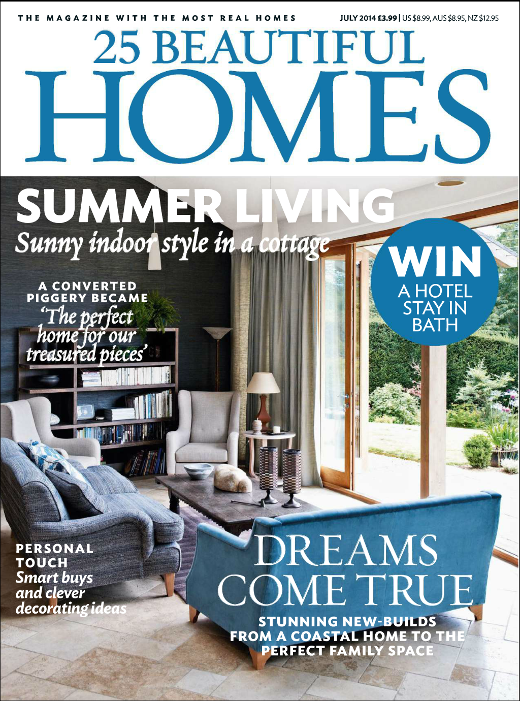 In the Press – 25 Beautiful Homes feature our interior design.