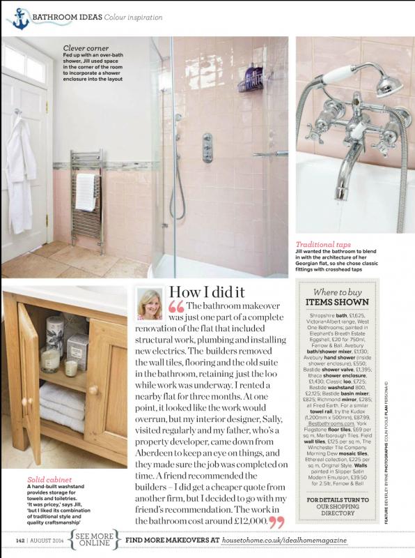 Edinburgh interior designer bathroom