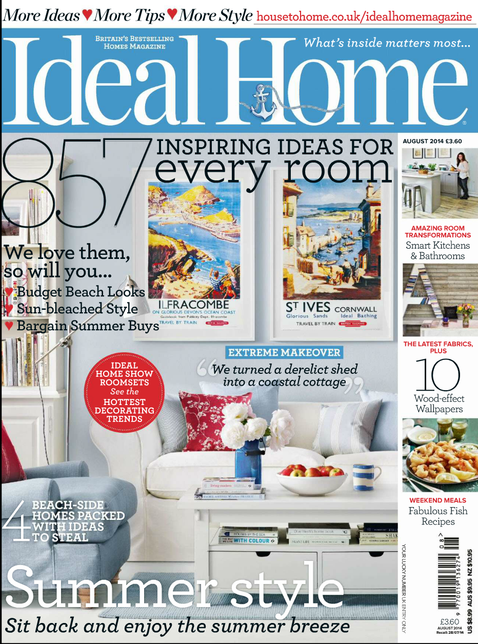 In the Press – 'Ideal Home magazine' feature our interior design.