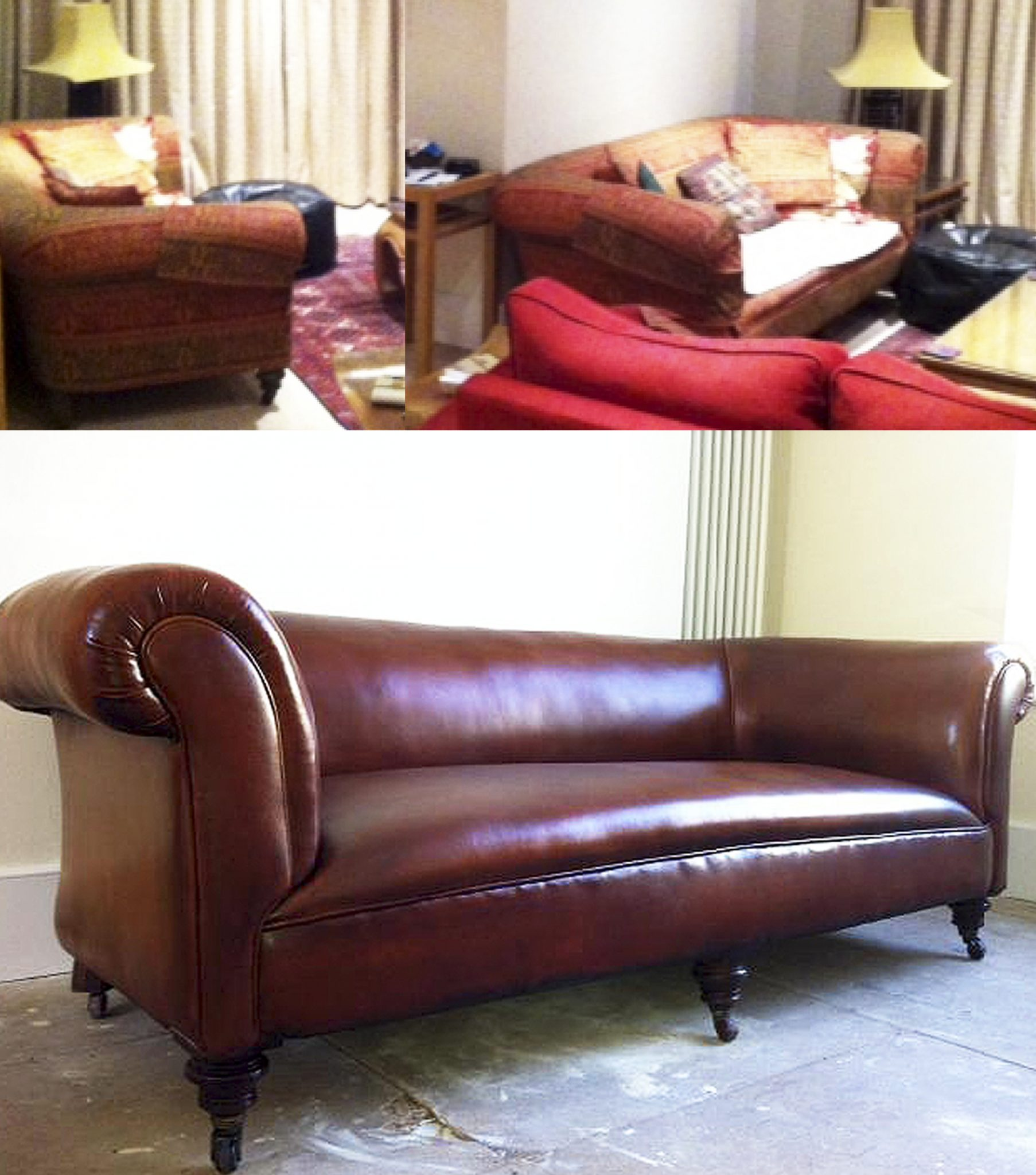 Before and After – A Handsome Sofa