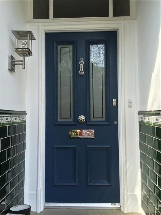 Farrow and ball blue door
