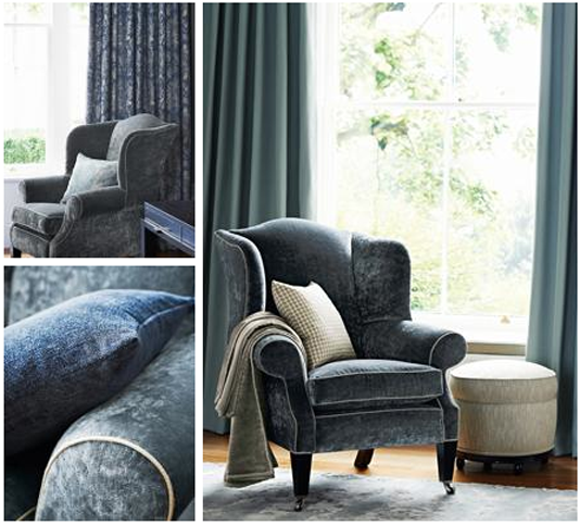 zoffany curzon velvet interior design edinburgh